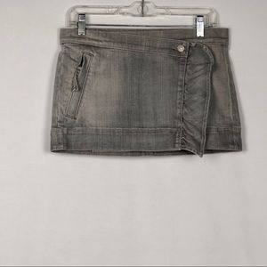 🦋 7 for All Mankind Gray Jean Skirt